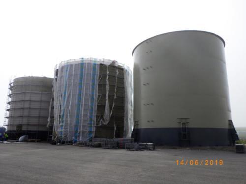 Diesel oil storage PBC-3000m³ – 3 psc.In & OutJan. - June 2019